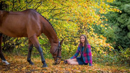 Xanthe Goldsack and Nibbles at Somerford Park Farm