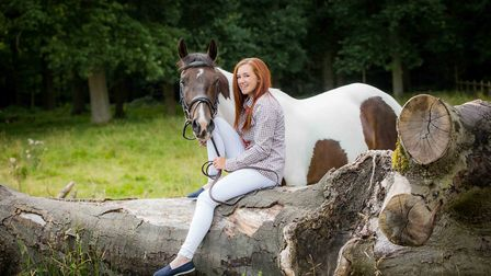 Abby Jones and her horse Champ at Tatton Park
