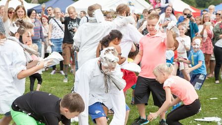 The Mr Darcy Custard Pie Fight - part of Bakewell Baking Festival