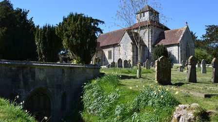 The church at Breamore is one of the best preserved Saxon churches in the country
