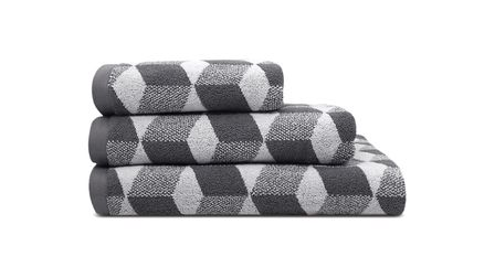 Its hip to be square Geometrics are both bang on trend and super-masculine. Cubus bath towels x 2,