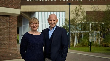 Chichester Festival Theatre's new management team: executive director Rachel Tackley and artistic di
