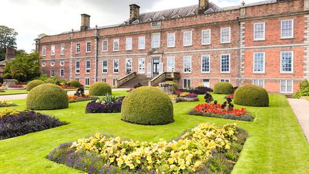 Colourful bedding in the Victorian Parterre at Erddig Hall, Wrexham, photographed in September by Jo