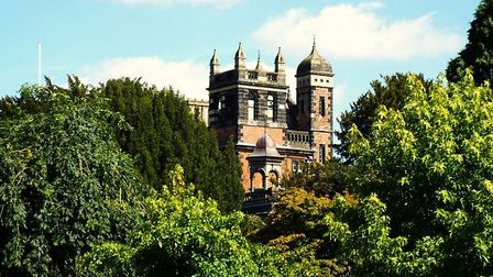 The towers and turrets of Capesthorne Hall by Gillian Baker