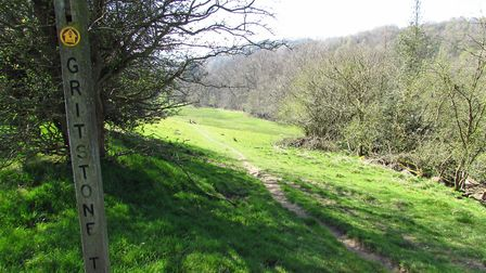 Follow the Gritstone Trail down to the River Dane