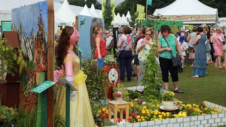 Visitors admire one of the 2016 Schools Gardens