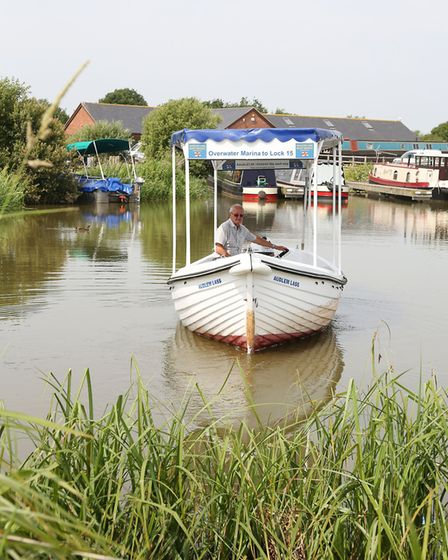 Jo Hoyles on board the Audlem Lass at OverWater Marina
