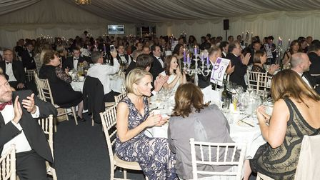 Guests watch on at the black tie awards dinner at Foxhills (Photos: Andy Newbold)