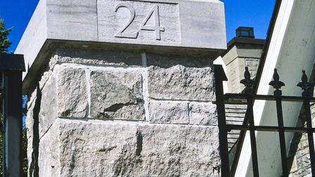 24 Sussex Drive gate post, home of the Canadian Prime Minister, Ottawa, Canada (Getty Images)