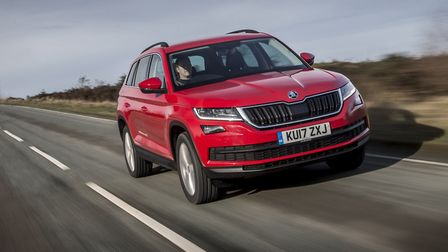 The face is unmistakably Skoda with adominant grille while the twin double-headlights' intricate cry