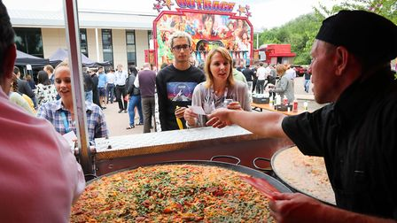 Extreme lunchbreak as 1,500+ people who work at The Oxford Science Park enjoy paella and fun fair at