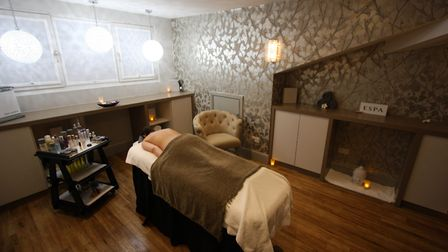 Treatment room in the spa