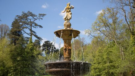 The splendid water fountain in Donorlan Park has been a major focus for the restoration efforts