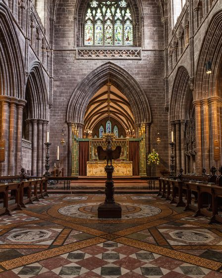 Chester Cathedral will be transformed into a sculpture galllery