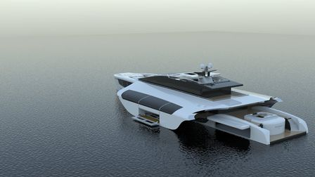 Designs for a superyacht by Alexander Fogg, a finalist in the 2017 Young Designer of the Year awards