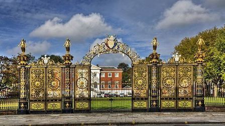 Does this ornate gate lead to a multi-million pound home? Photo: George Standen