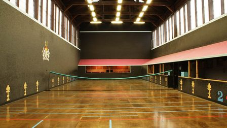 The real tennis court at Hatfield House was built in 1842
