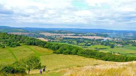 The village of South Harting and Harting Down seen from Beacon Hill