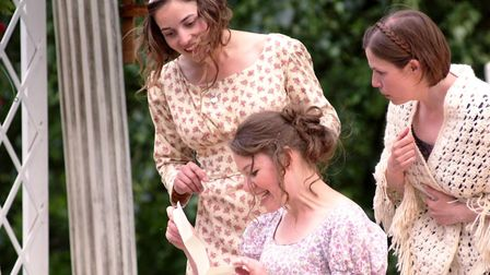 The Bennet sisters in Hertbreak Productions' open air performance of Pride and Prejudice (photo: Hea