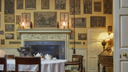The Print Room at The Vyne, one of many historic rooms at risk from the leaking roof