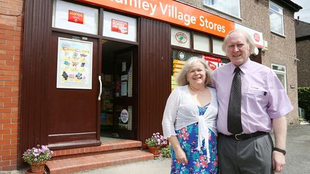 Gill and Jonathan Royle of Plumley Village Stores and Post Office