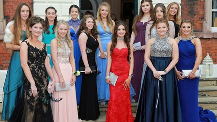 The leavers gather for a final photocall