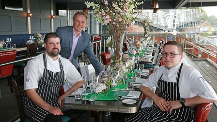 General Manager, Andre Sievers, with head chef, Daniel Speak and junior sous chef, Marcus Hodges