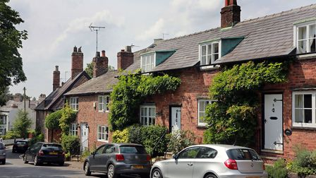 Church Brow cottages *** Local Caption *** Bowdon town feature