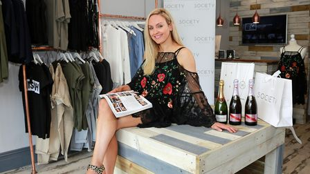 Michelle McDowall at her Society Boutique in Vicarage Lane *** Local Caption *** Bowdon town feature