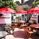 The beer garden at the Lady Luck Bar (photo courtesy of the Lady Luck Bar)