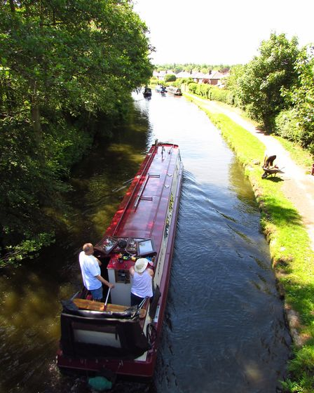 The view from Red Lane bridge over the Bridgewater Canal