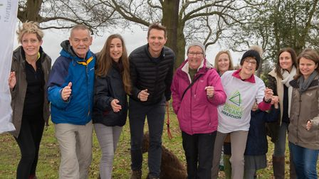 Helping to launch the Surrey 5 Peaks Hikeathon (Photo: Claire Vincent)
