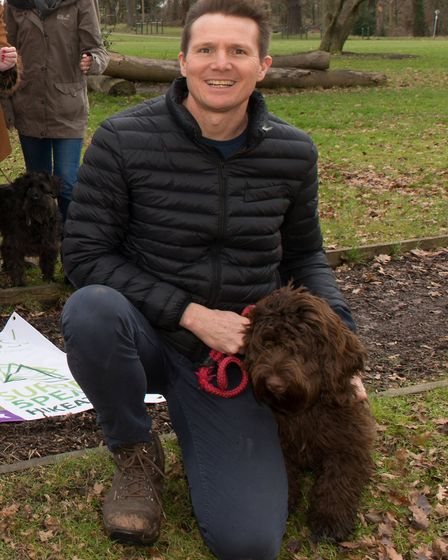 Roger with his cockapoo (Photo: Claire Vincent)