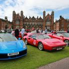 Supercars gather on the lawn of Capesthorne Hall