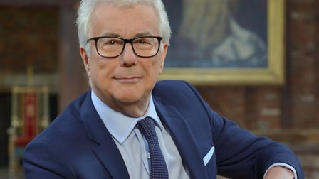Ken Follett in the Banqueting Hall, Old Palace, Hatfield House (photo: Olivier Favre)
