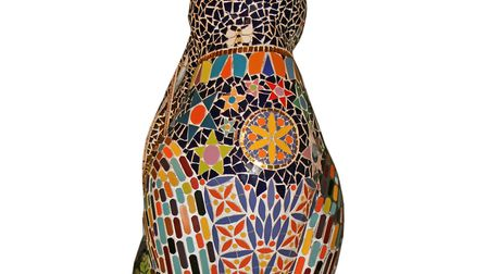 One of the giant hares which is up for auction at Cheltenham Racecourse on October 6
