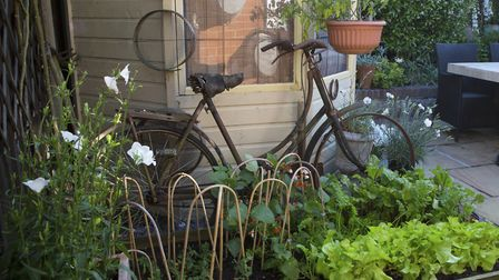 A tiny veg plot and reclaimed finds at Crowmarsh House