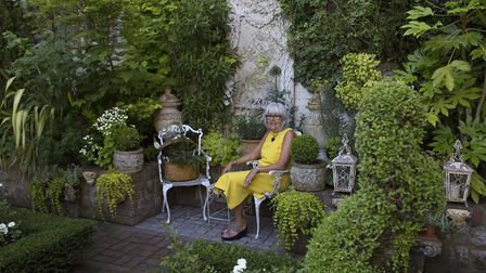 Yvonne has created an oasis of serene greens at Crowmarsh House