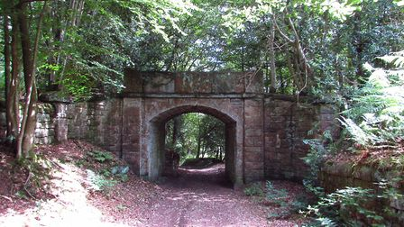 Stone arch on Hill Lane