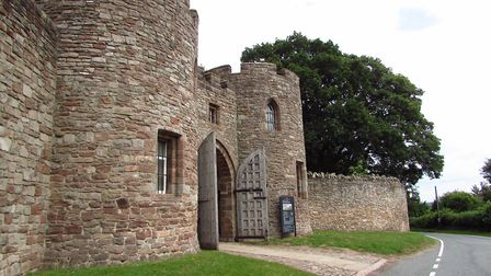The entrance to Beeston Castle