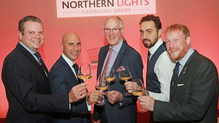 Sommeliers; Alan Holmes, Filippo Zito, George Bergier, Pasquale Matarrelli and Nigel Wilkinson at H