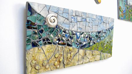 Mosaic inspired by water
