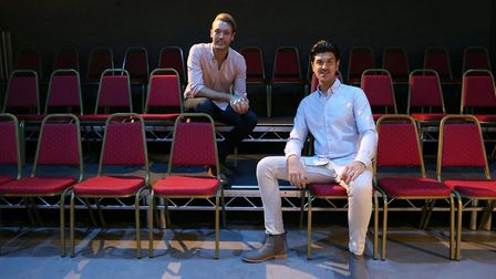 Above and left: Joe and Will at Hope Mill Theatre