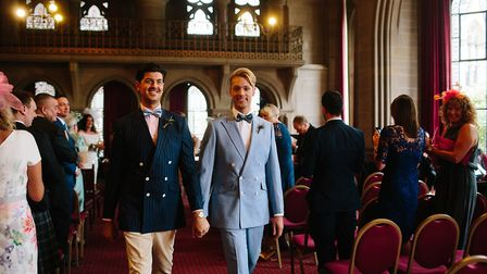 Joe and Will say I do at Manchester Town Hall