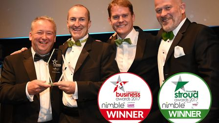 Gloucestershire Live Business Awards 2017 Digital Business of the Year. (L-R) Sponsor Rob Ayland fro