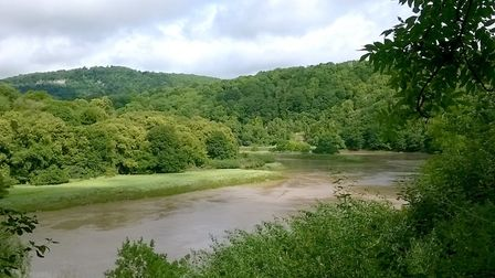 View of the Wye from Lancaut
