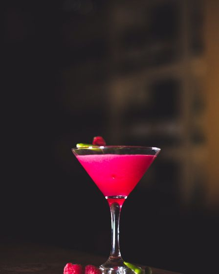 Pretty pink cocktail: Asha's downstairs bar attracts the city's celebrites