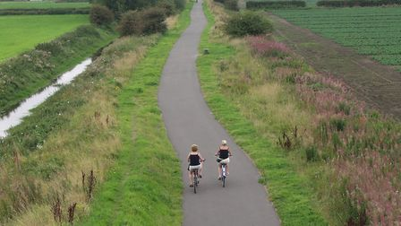 Part of the Chester railway path, cycle on National Route 5 from Chester to Connah's Quay (credit: A