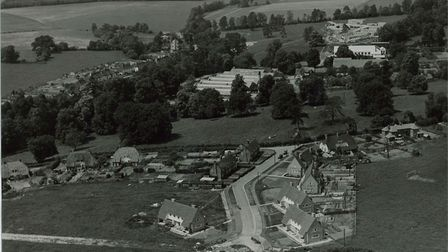 An aerial View Of Enham Alamein, 1950 (Picture: Southern Newspapers Ltd)