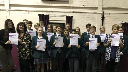 Some of the students with their LAMDA certificates